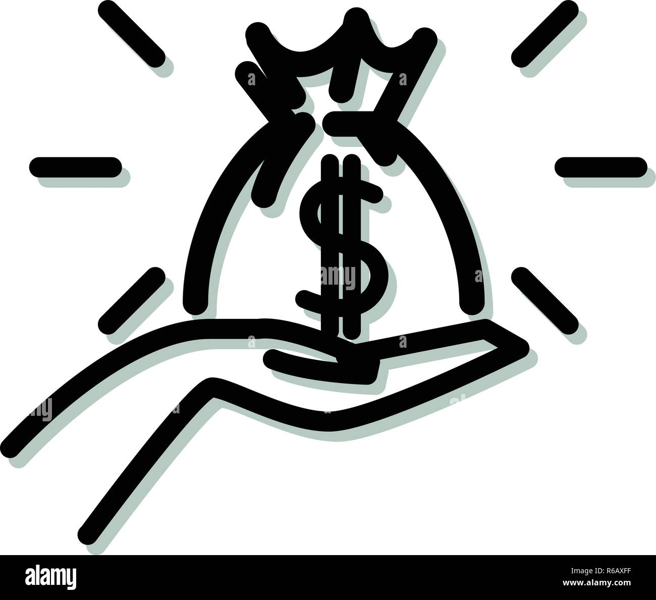 Venture Capitalist Funding Icon as EPS 10 File - Stock Image