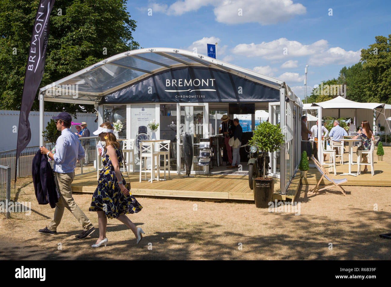 The Bremont Boutique for Bremont Chronometers at Henley Royal Regatta - Stock Image
