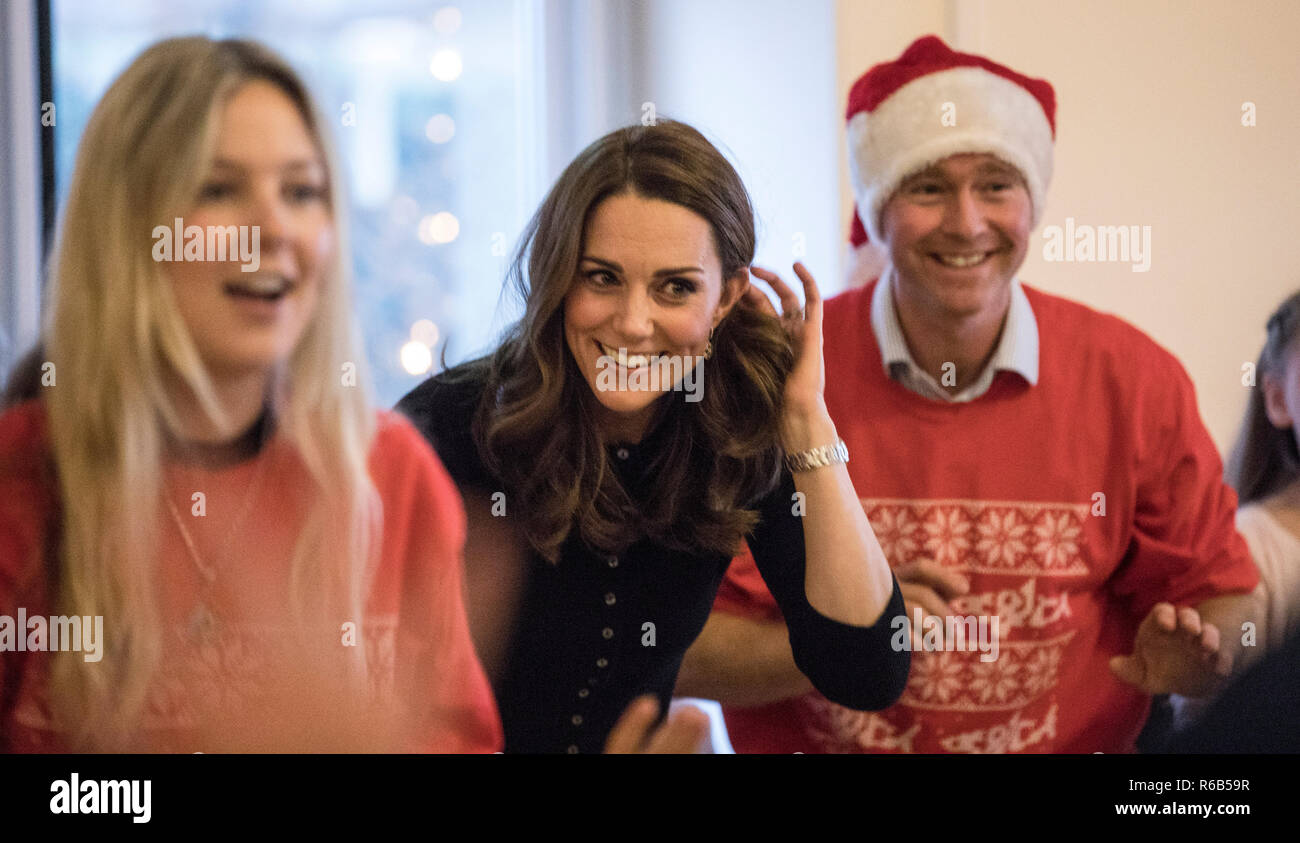 cabf8872b The Duchess of Cambridge at Kensington Palace, London, where she is a  hosting a Christmas party for families and children of deployed personnel  from RAF ...