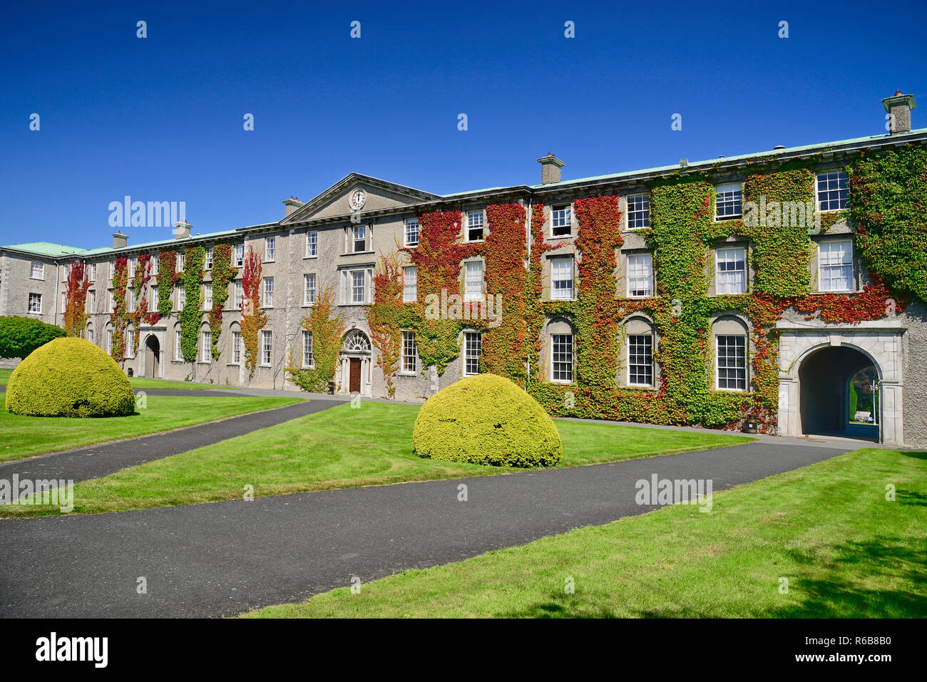Ireland, County Kildare, Maynooth, St Patricks College, Ivy covered section of the college known as Stoyte House. - Stock Image