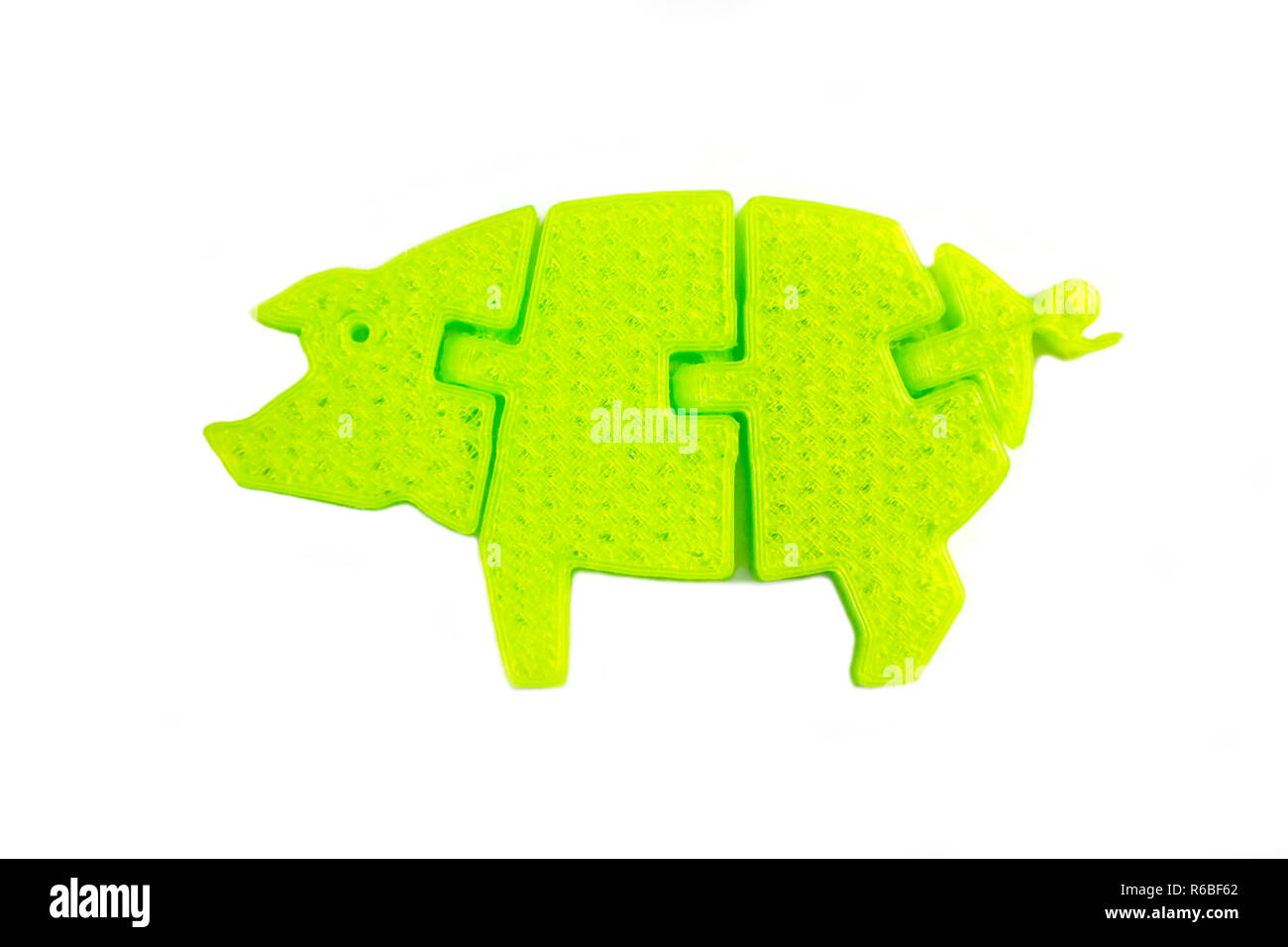 Model Pig Cut Out Stock Images Pictures Alamy Diagram Bright Light Green Object In Shape Of Toy Printed On 3d Printer Isolated White