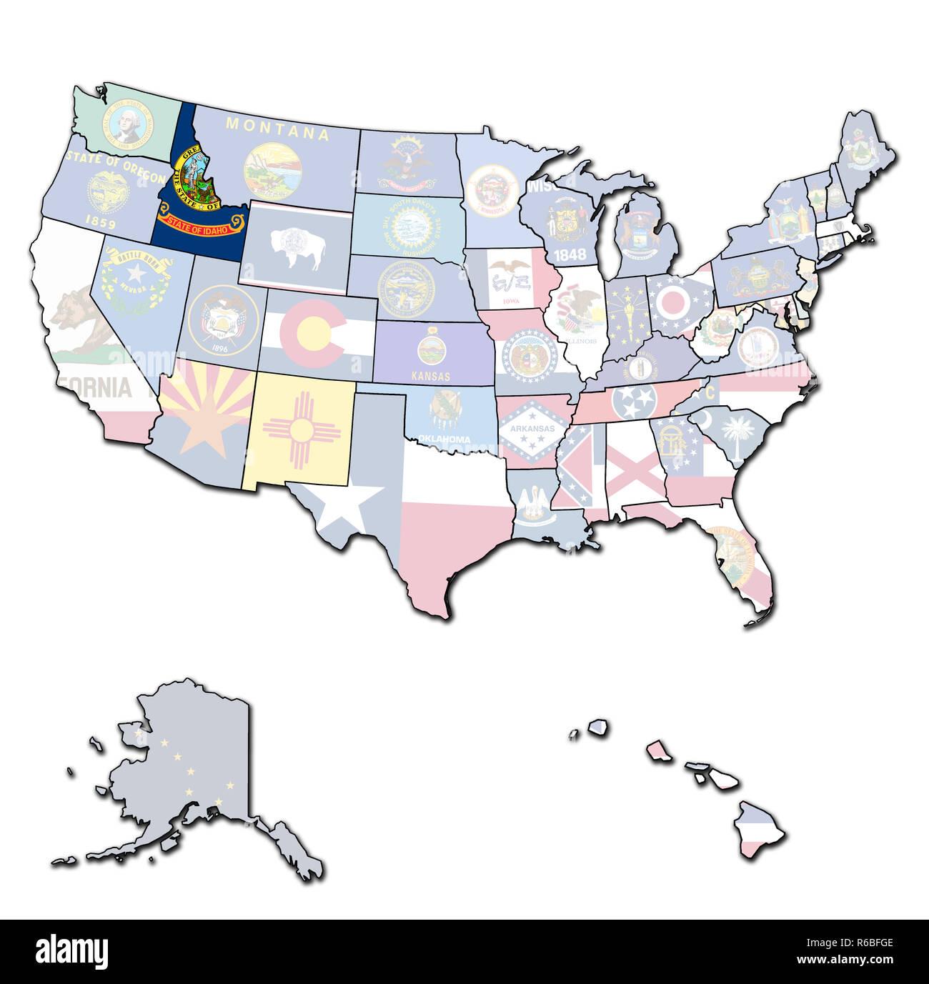 idaho on map of usa Stock Photo: 227676414 - Alamy on usa map roanoke, usa map guam, usa map virgin islands, usa map buffalo, usa map california, usa map long island, usa map akron, usa map fort worth, usa map cincinnati, usa map oregon trail, usa map indianapolis indiana, usa map cascade, usa map snake river, usa map nd, usa map by zipcode, usa map orange county, usa map little bighorn, usa map with oregon, usa map bahamas, usa map fort lauderdale,