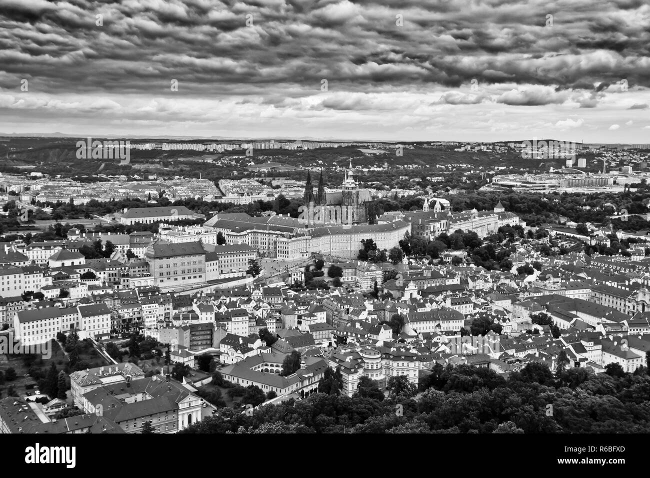 Prague is the capital and largest city in the Czech Republic, the 14th largest city in the European Union and the historical capital of Bohemia. - Stock Image