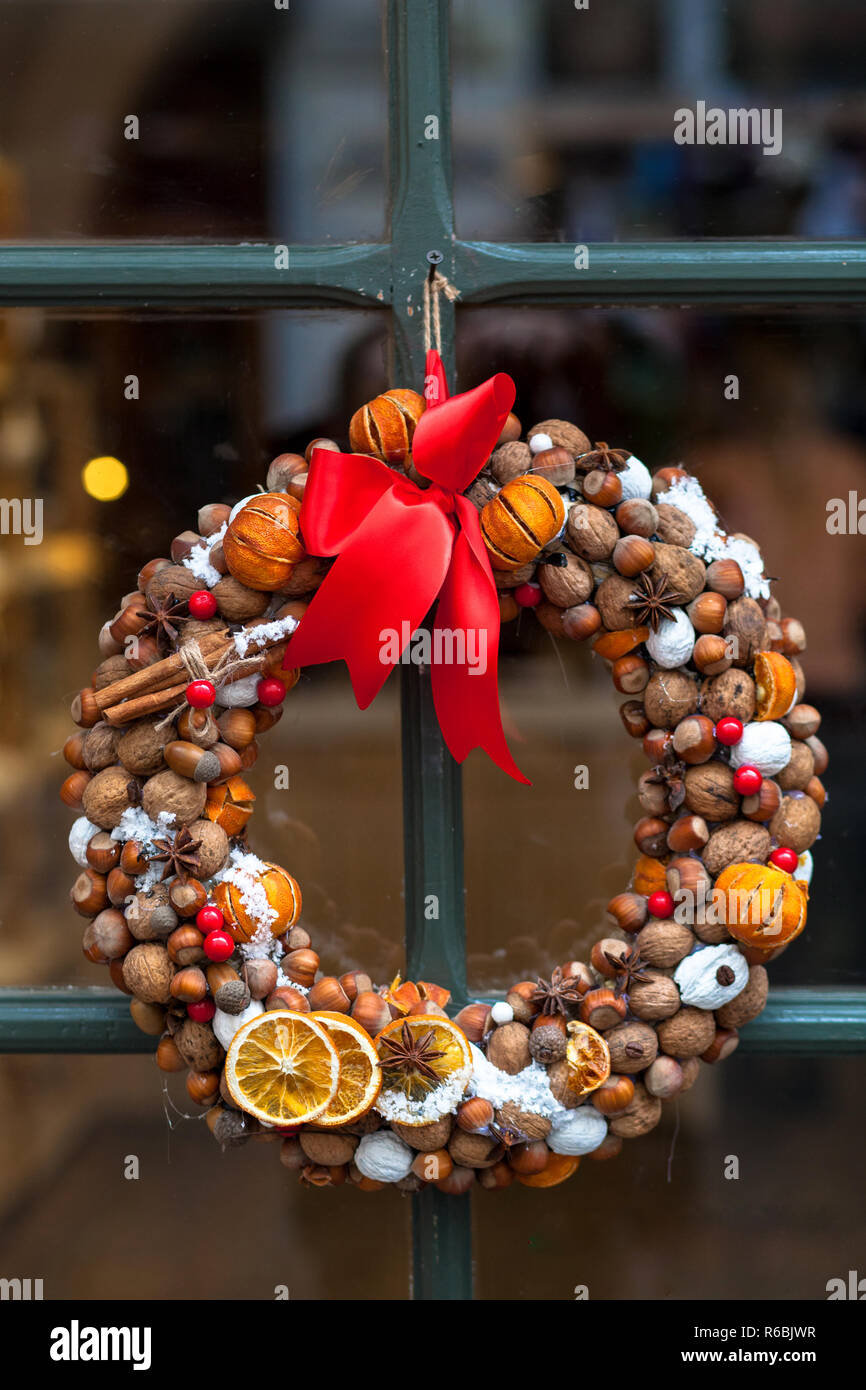 Dried Red Apple slices Christmas decoration wreath garlands
