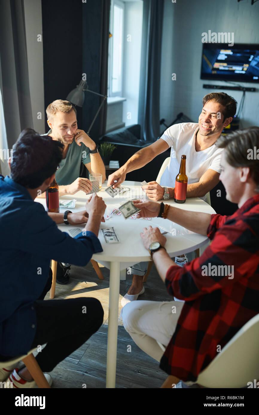 Men making wager - Stock Image