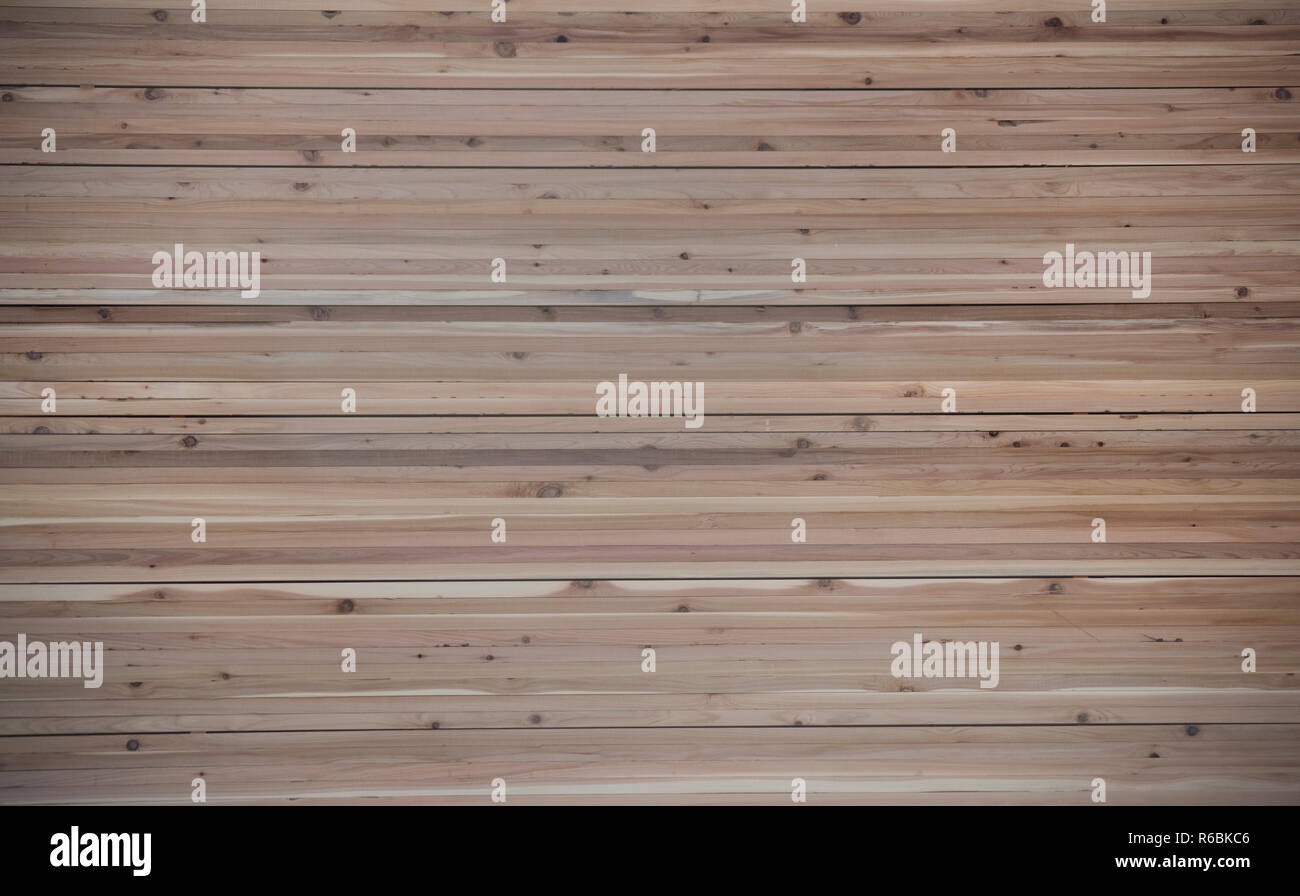 Milled dimensional lumber stacked and ready for export in Canadian softwood lumber mills - Stock Image