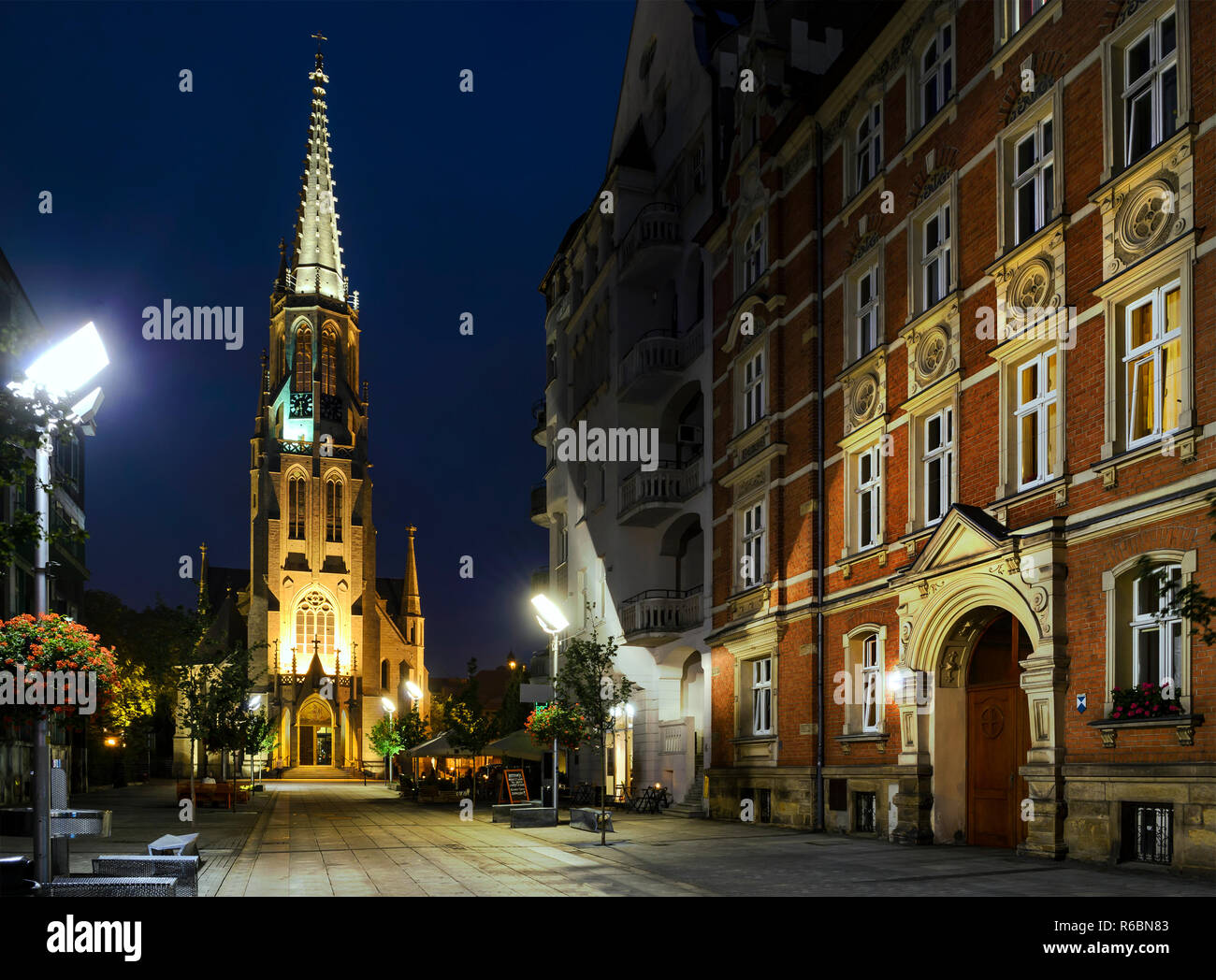 Church of the Immaculate Conception of the Blessed Virgin Mary in Katowice Stock Photo