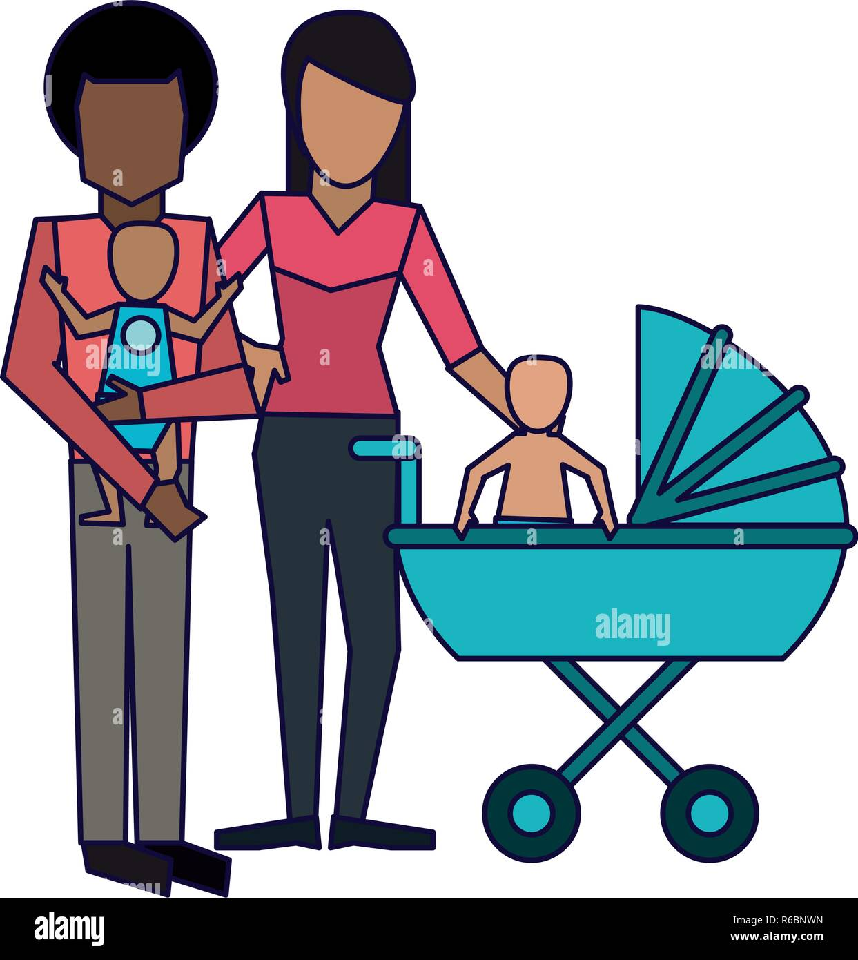 Family avatar concept - Stock Image