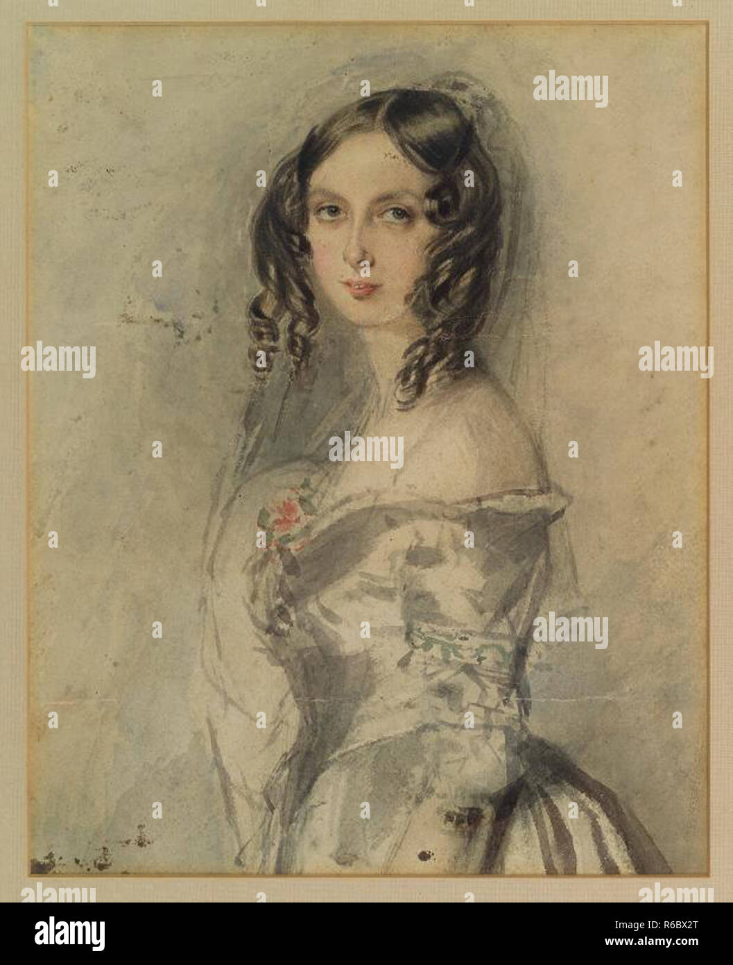 vintage lady victorian classic portrait artwork Stock Photo