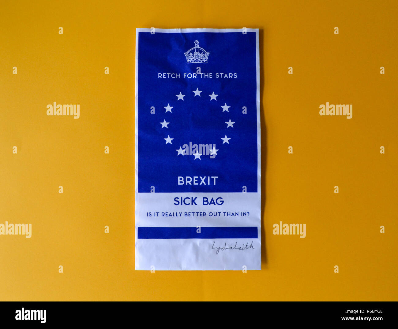 Brexit Sick Bag - Stock Image