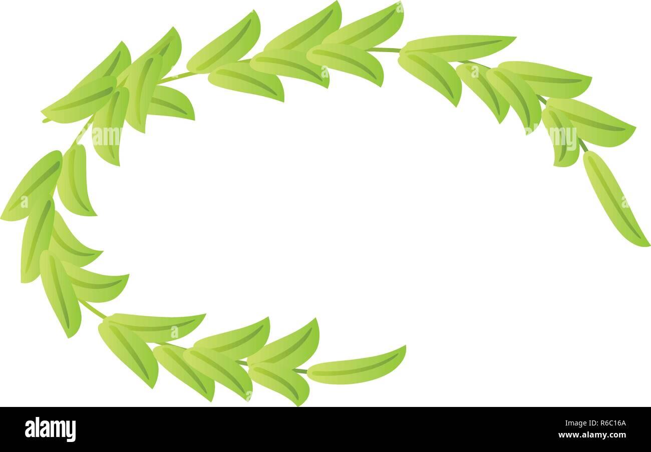 Olive laurel icon, isometric style - Stock Image