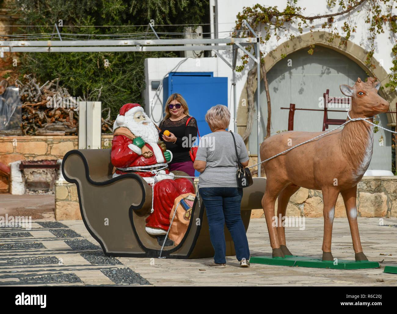 Christmas decoration, Agia Napa, republic Cyprus, Weihnachtsdekoration, Republik Zypern Stock Photo