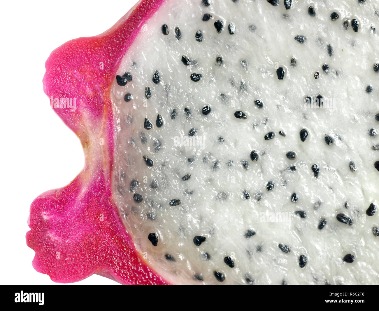 Pitahaya Drachenfrucht Anschnitt - Stock Image