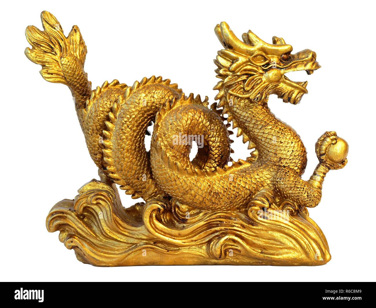 Chinese Feng Shui Dragon - Stock Image