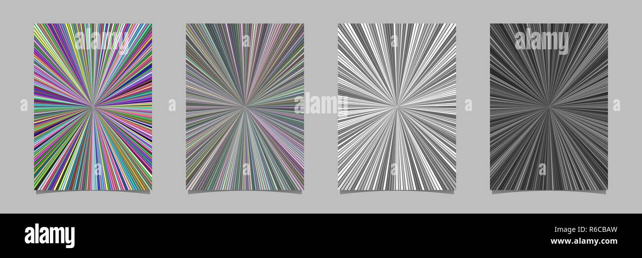 Abstract hypnotic striped star burst pattern poster
