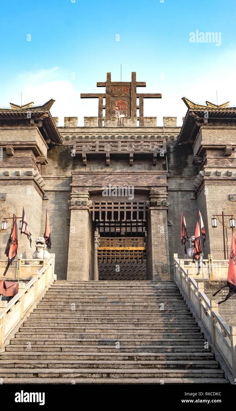 Chibi, Hubei/ CHINA - OCT 25, 2018: The ancient battle field