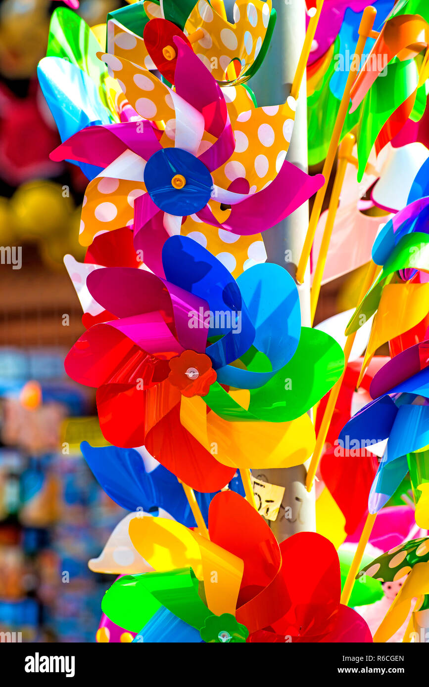 Wind Wheels For Kids - Stock Image