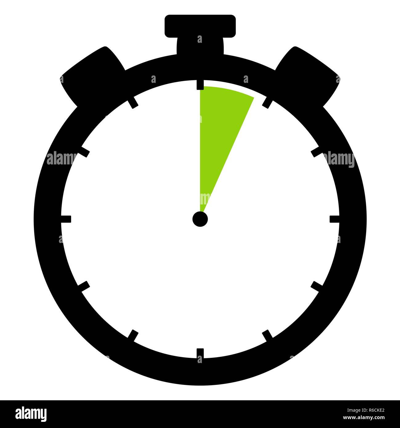 stopwatch icon: 4 minutes or 4 seconds - Stock Image