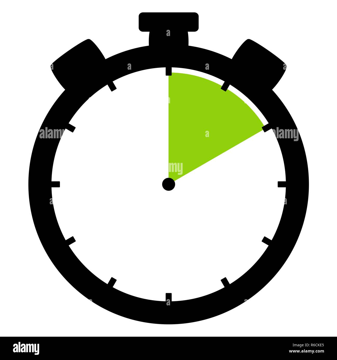 stopwatch icon: 10 minutes 10 seconds or 2 hours - Stock Image