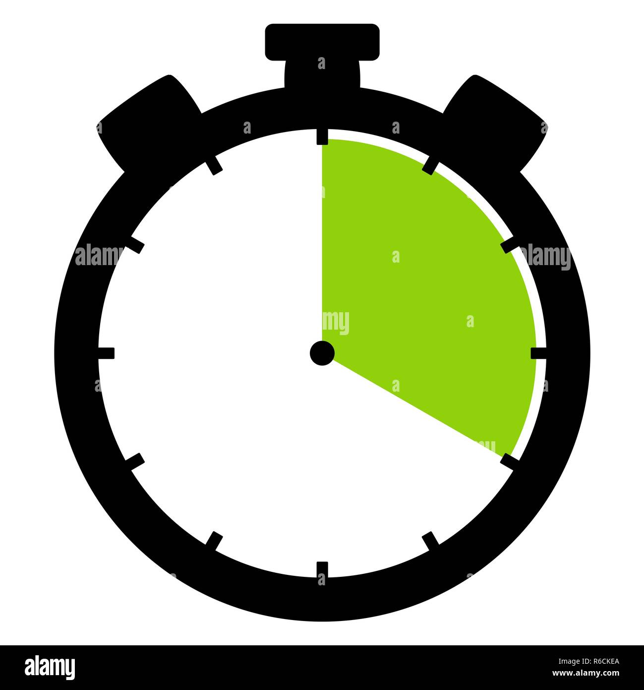 stopwatch icon: 20 minutes 20 seconds or 4 hours - Stock Image