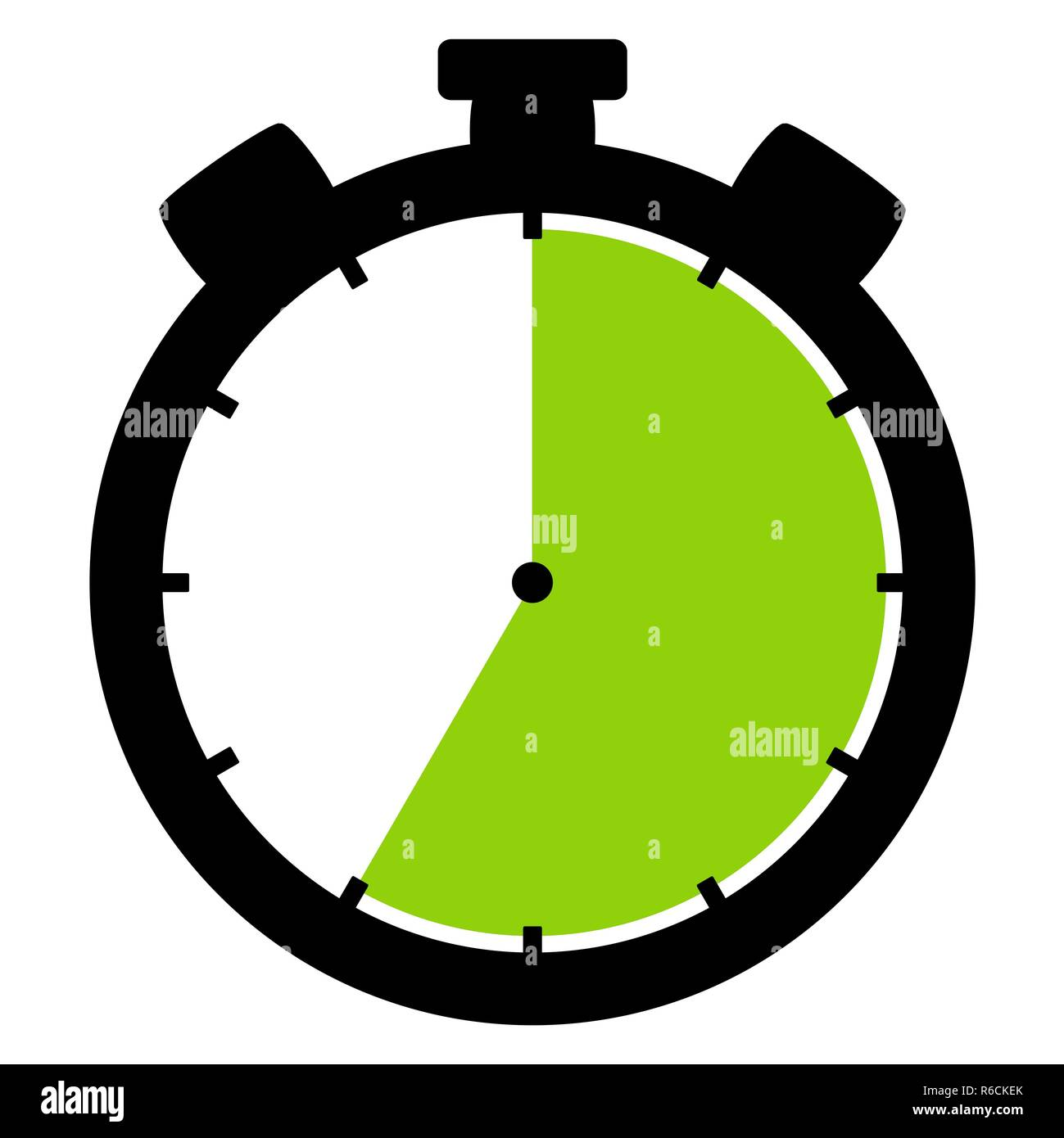 stopwatch icon: 35 minutes 35 seconds or 7 hours - Stock Image