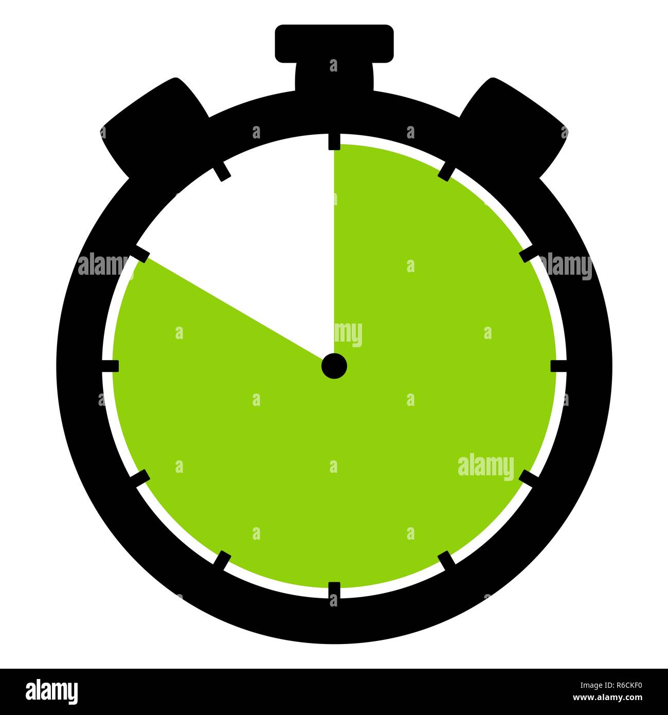 stopwatch icon: 50 minutes 50 seconds or 10 hours - Stock Image
