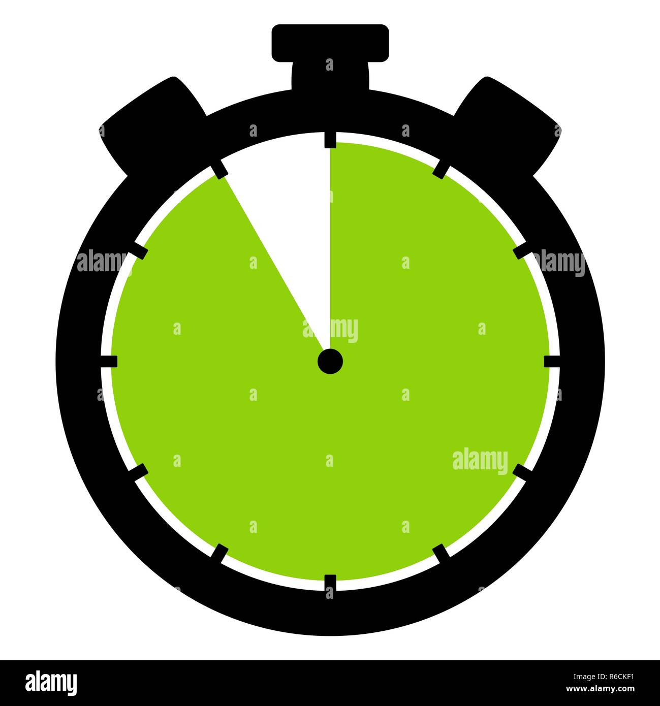 stopwatch icon: 55 minutes 55 seconds or 11 hours - Stock Image