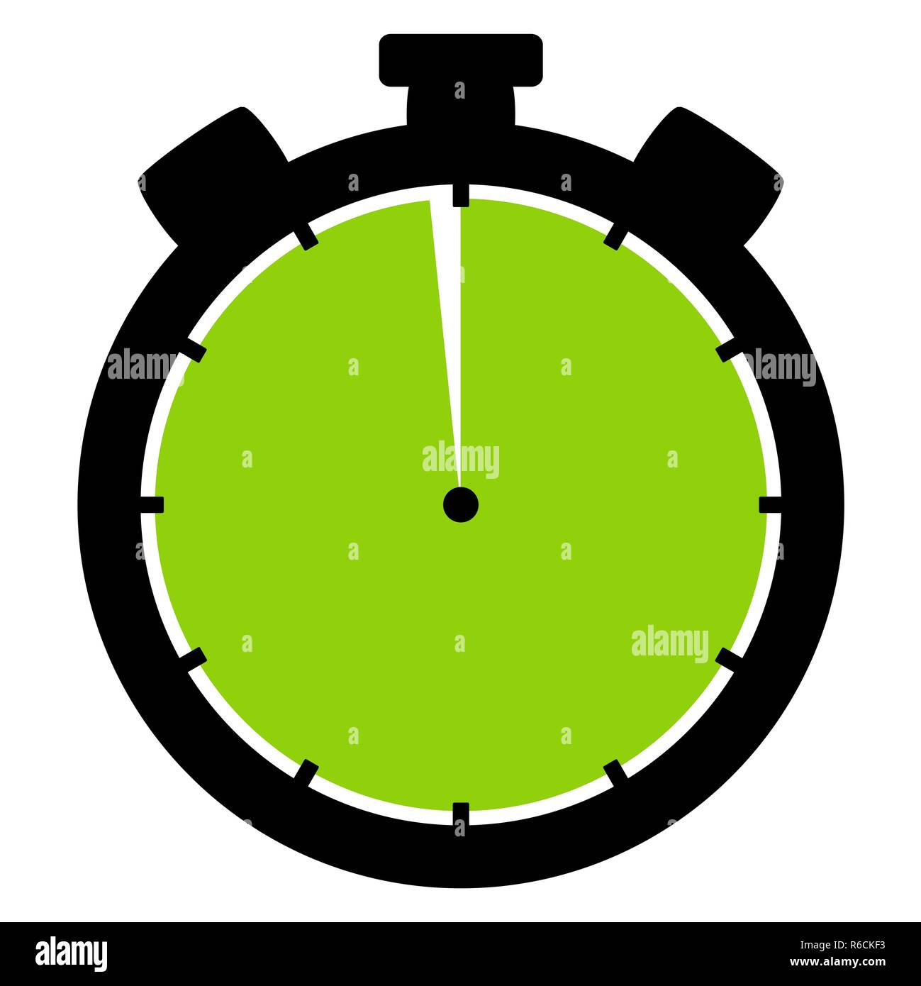 stopwatch icon: 59 minutes or 59 seconds - Stock Image