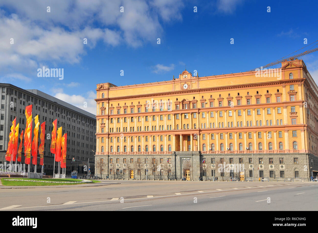 Russia, Moscow, The Lubyanka, Headquarters Of The Kgb And Affiliated Prison On Lubyanka Square In Moscow, Russia - Stock Image
