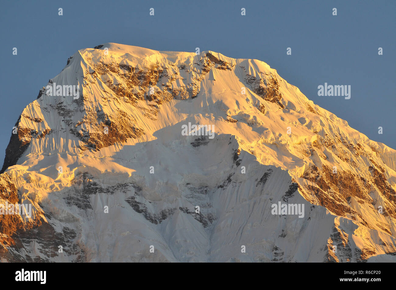 Nepal, Annapurna Conservation Area, Annapurna South View From Tadapani, Nepal Himalaya Stock Photo