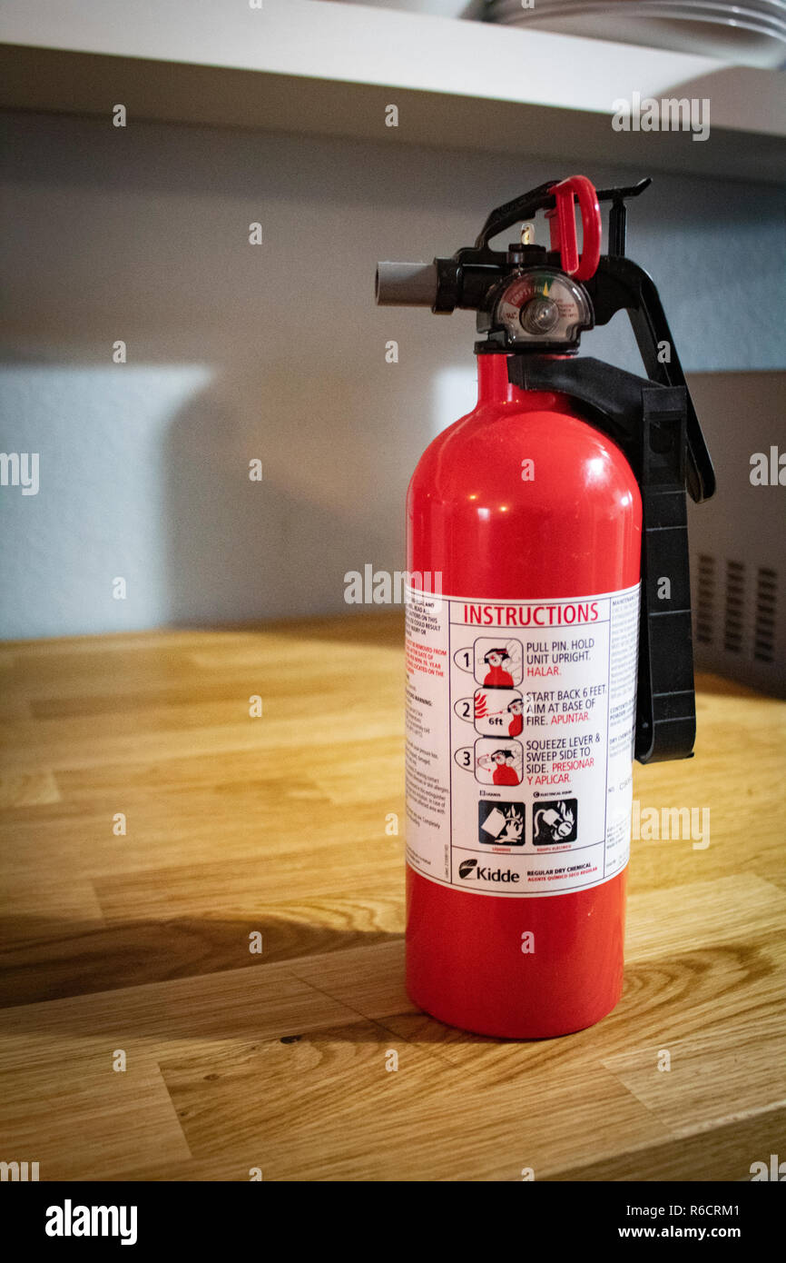 Fire Extinguisher Kitchen High Resolution Stock Photography And Images Alamy