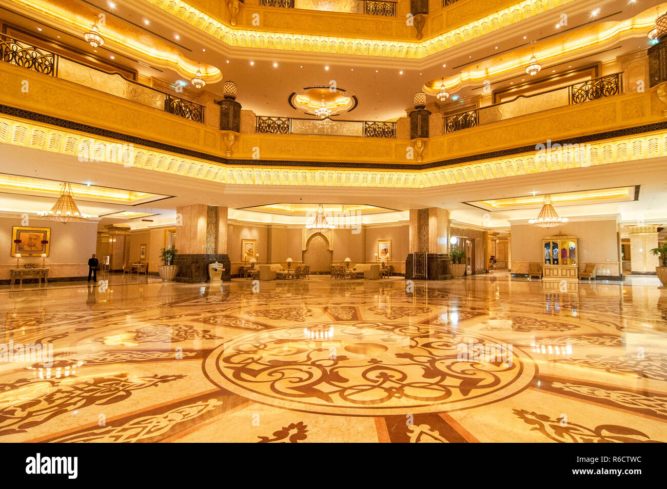 Hall Decoration In Emirates Palace Hotel A Luxurious And The Most