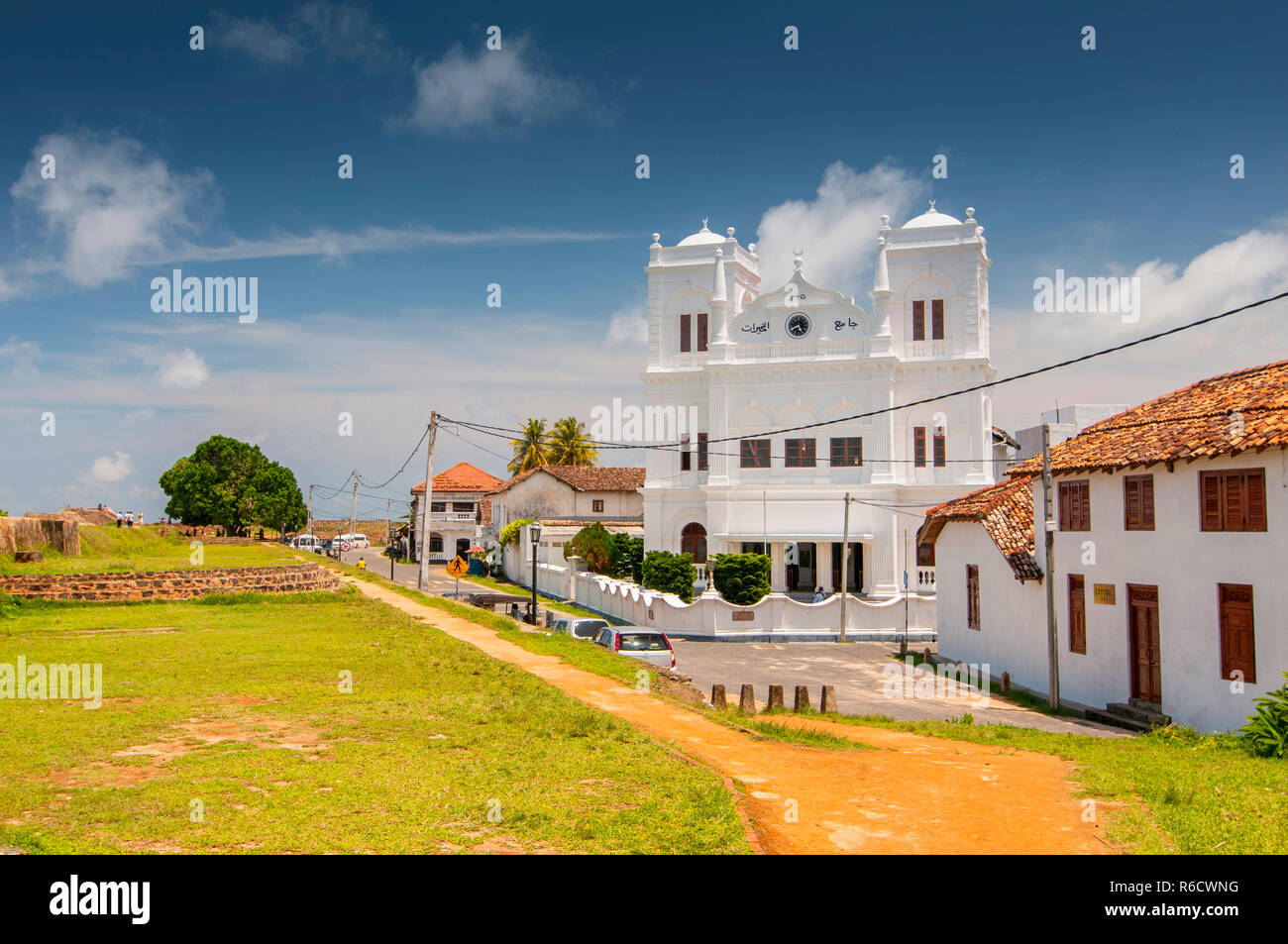 Meeran Jumma Mosque At The Point Utrecht Bastion In The Old Dutch Fort, Galle, Southern Province, Sri Lanka - Stock Image