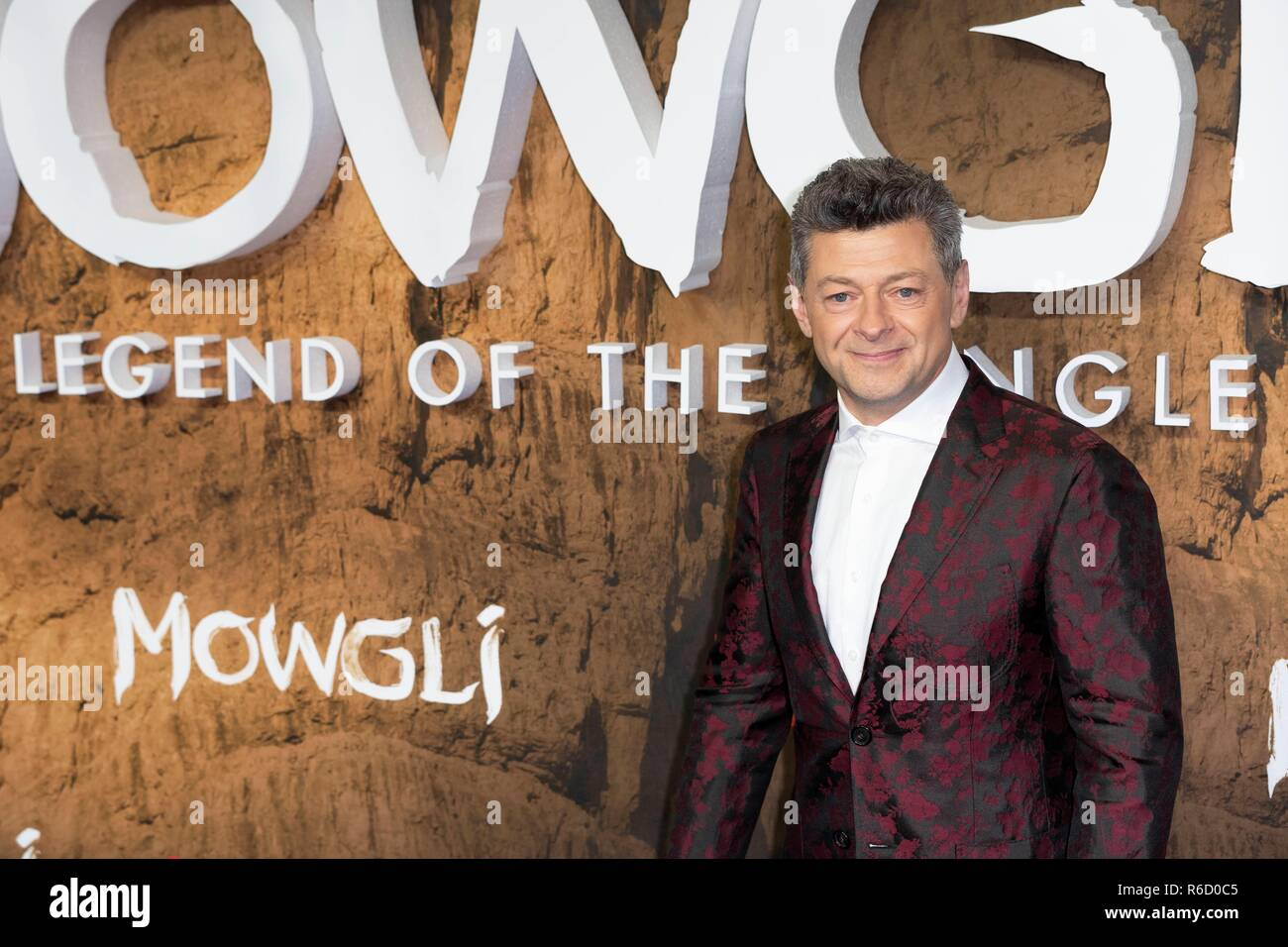 Andy Serkis attends Special Screening of MOWGLI Legend of The Jungle. London, UK. 04/12/2018 | usage worldwide - Stock Image