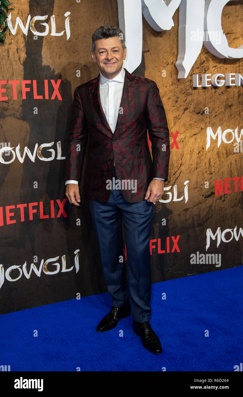 London, UK. 04th Dec, 2018. Andy Serkis attends a special screening of Netflix's 'Mowgli: Legend Of The Jungle' at The Curzon Mayfair. Credit: SOPA Images Limited/Alamy Live News - Stock Image