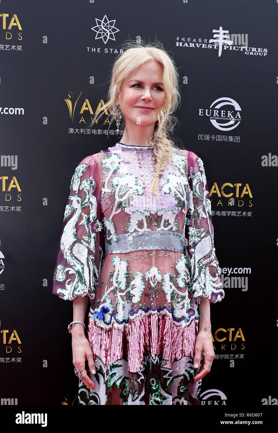 Sydney Australia 5th Dec 2018 Actress Nicole Kidman Poses For Photos On The Red Carpet Of The Australian Academy Of Cinema And Television Arts Aacta Awarding Ceremony In Sydney Australia On Dec