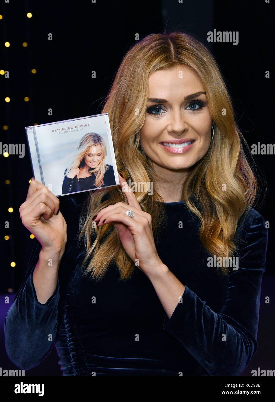 London, UK. 5th December, 2018. Katherine Jenkins, Welsh lyric mezzo-soprano and classical-crossover singer/songwriter meets fans and signs copies of her new album Guiding Light, at HMV Oxford Street Credit: Nils Jorgensen/Alamy Live News - Stock Image