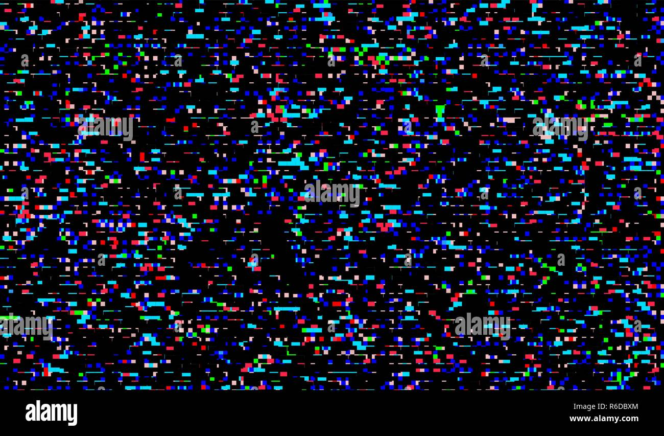 Glitch Texture Pixel Noise Test Tv Screen Digital Vhs Background