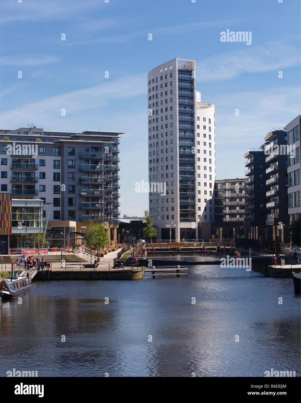 Leeds Dock at Clarence Dock in Leeds - Stock Image