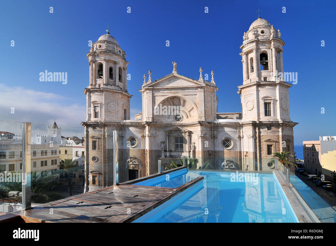 Cadiz Cathedral Called La Catedral Vieja De Cadiz Or Iglesia De Santa Cruz Cadiz Andalusia, Spain Stock Photo