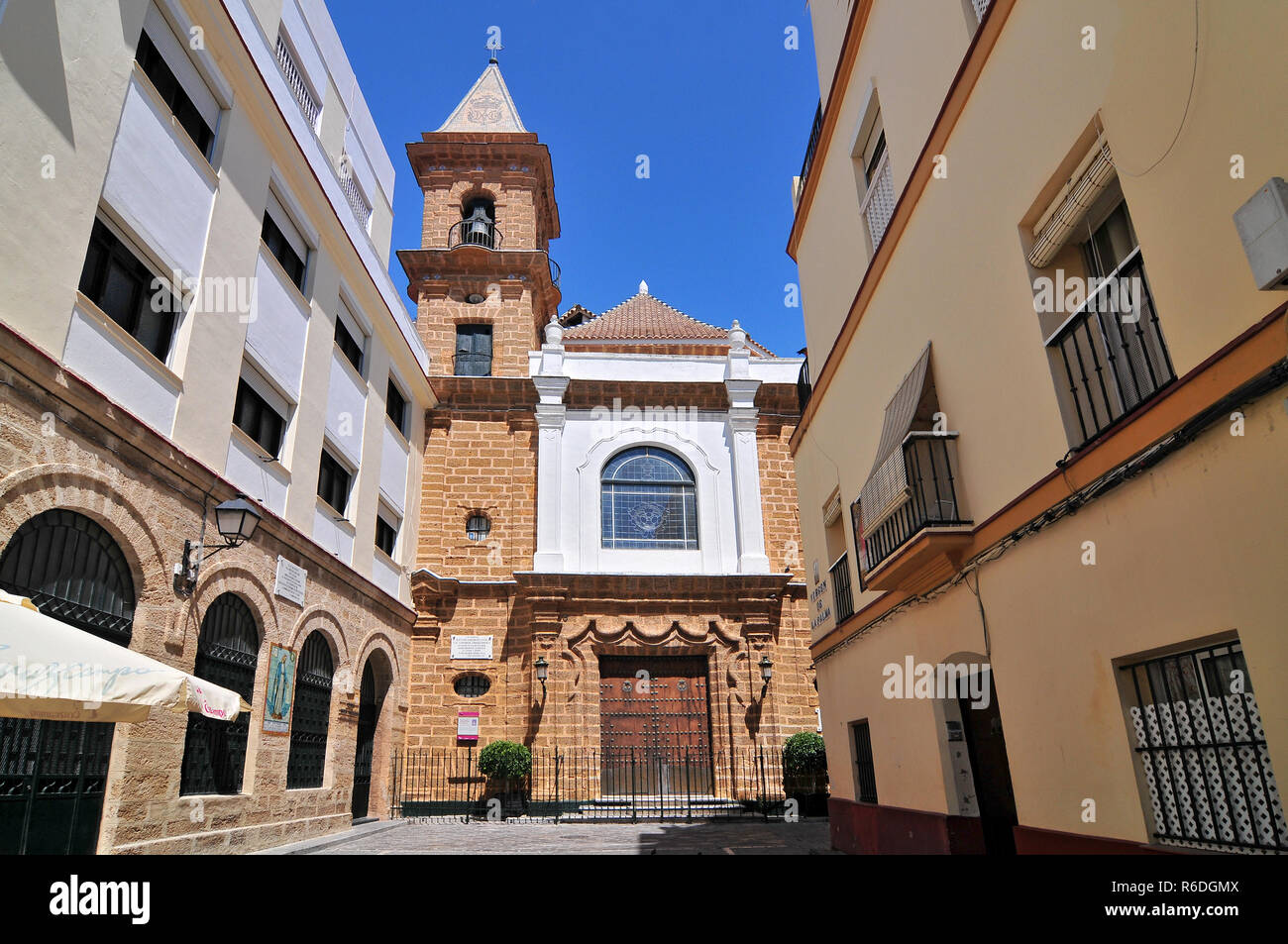 Church Of La Palma Cadiz Andalusia Spain Stock Photo