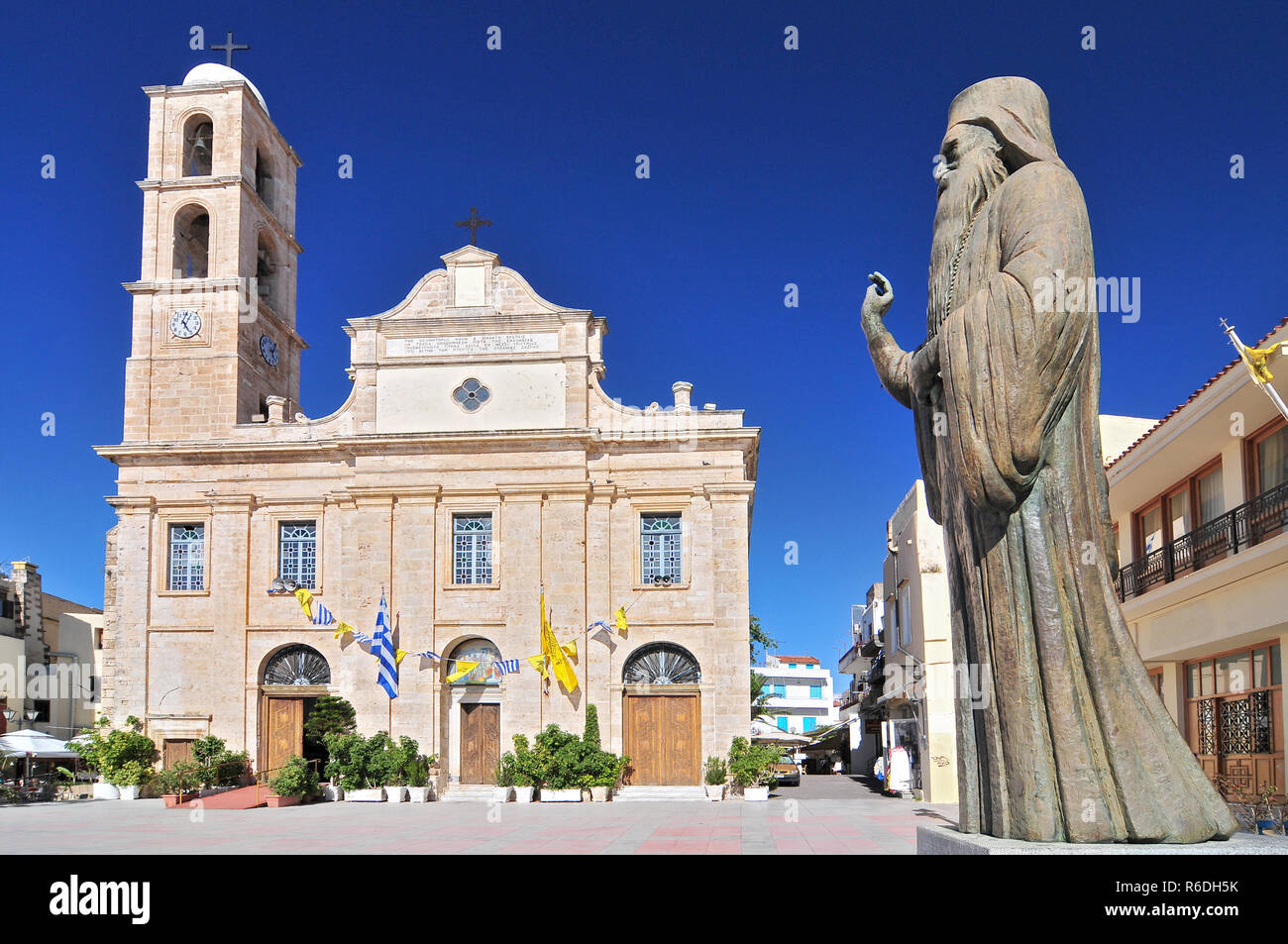 The Cathedral Church Of Chania Church Of The Trimartyri, Greece Western Crete Stock Photo