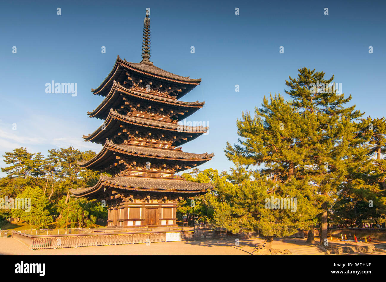 Kofuku-Ji Is One Of The Historic Monuments Of Ancient Nara As Designated By Unesco In Nara, Japan - Stock Image