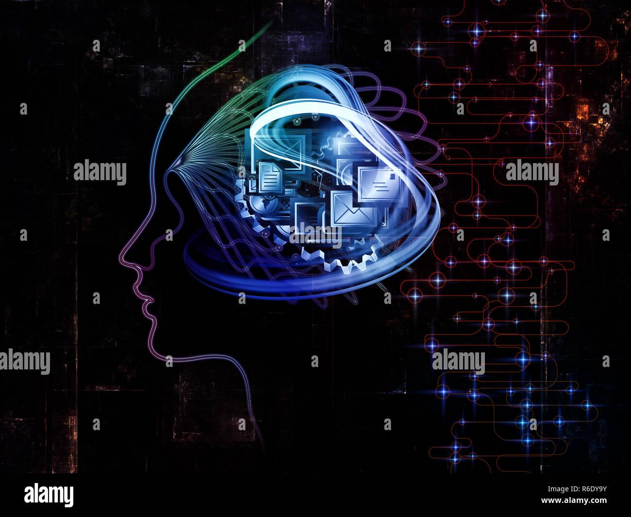 Beyond Machine Consciousness - Stock Image