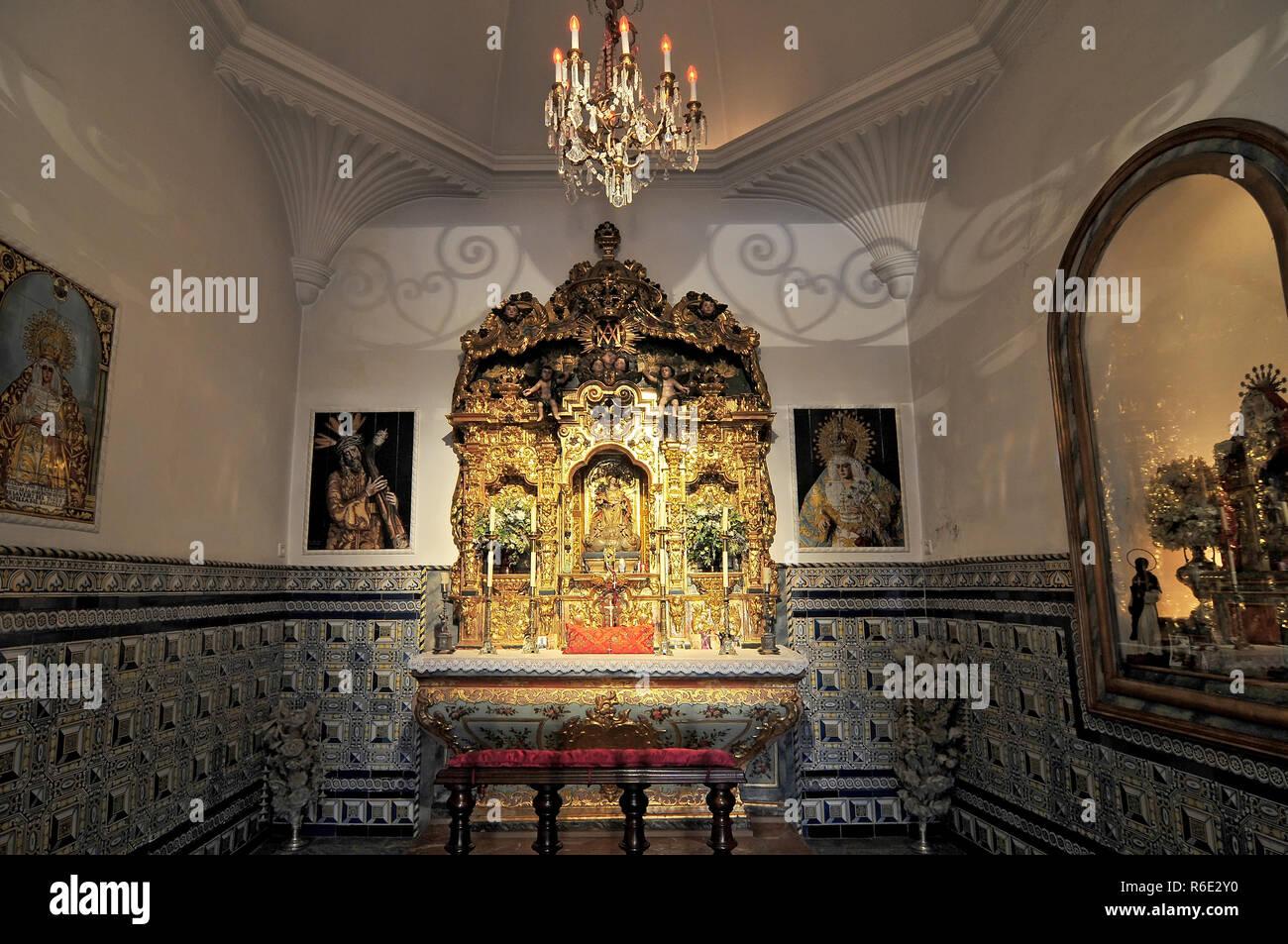 The Chapel Inside The Plaza De Toros De La Real Maestranza De Caballería De Sevilla (Bull Ring), In Seville, Andalusia, Spain Stock Photo