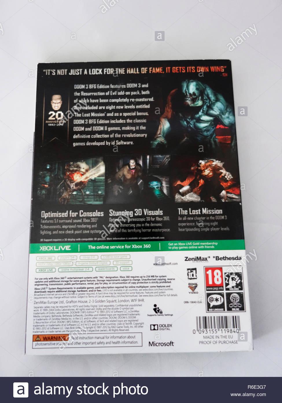 doom 3 xbox game Stock Photo: 227732855 - Alamy