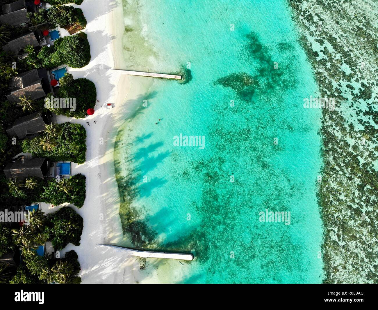 Maldives. All money raised with this picture will be donated to an ocean cleanup organization. #createawareness #IBproject #school Stock Photo