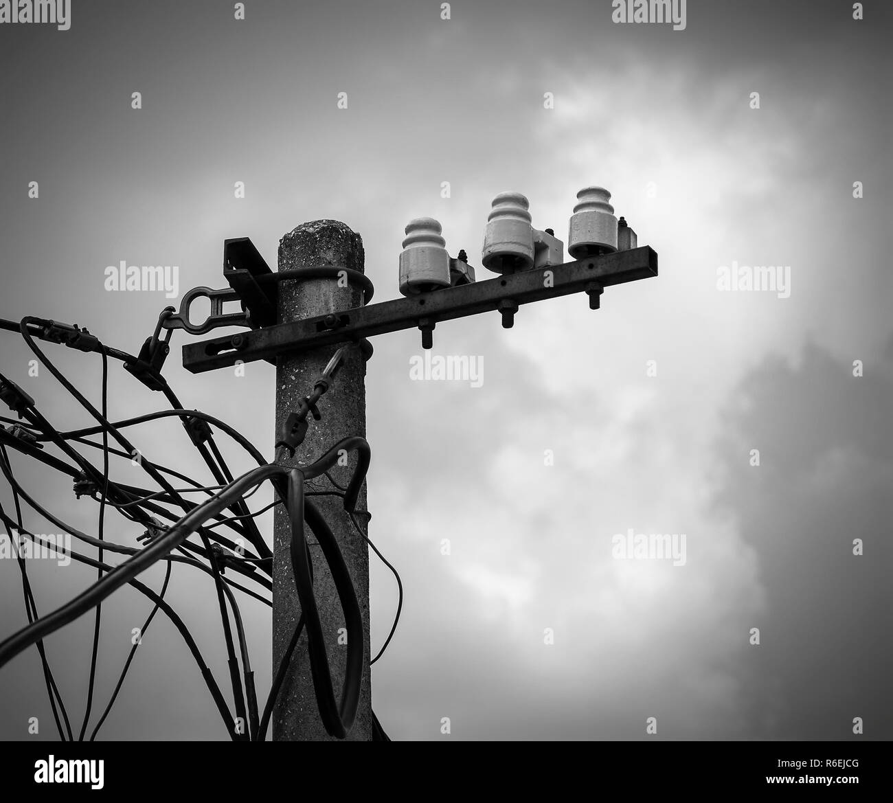 Light Pole Installation Near Me: Electricity Poles Black And White Stock Photos & Images