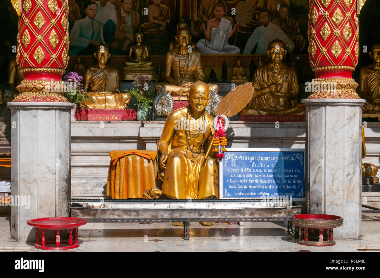 Statue Famous Monk In Thailand Stock Photos & Statue Famous Monk In