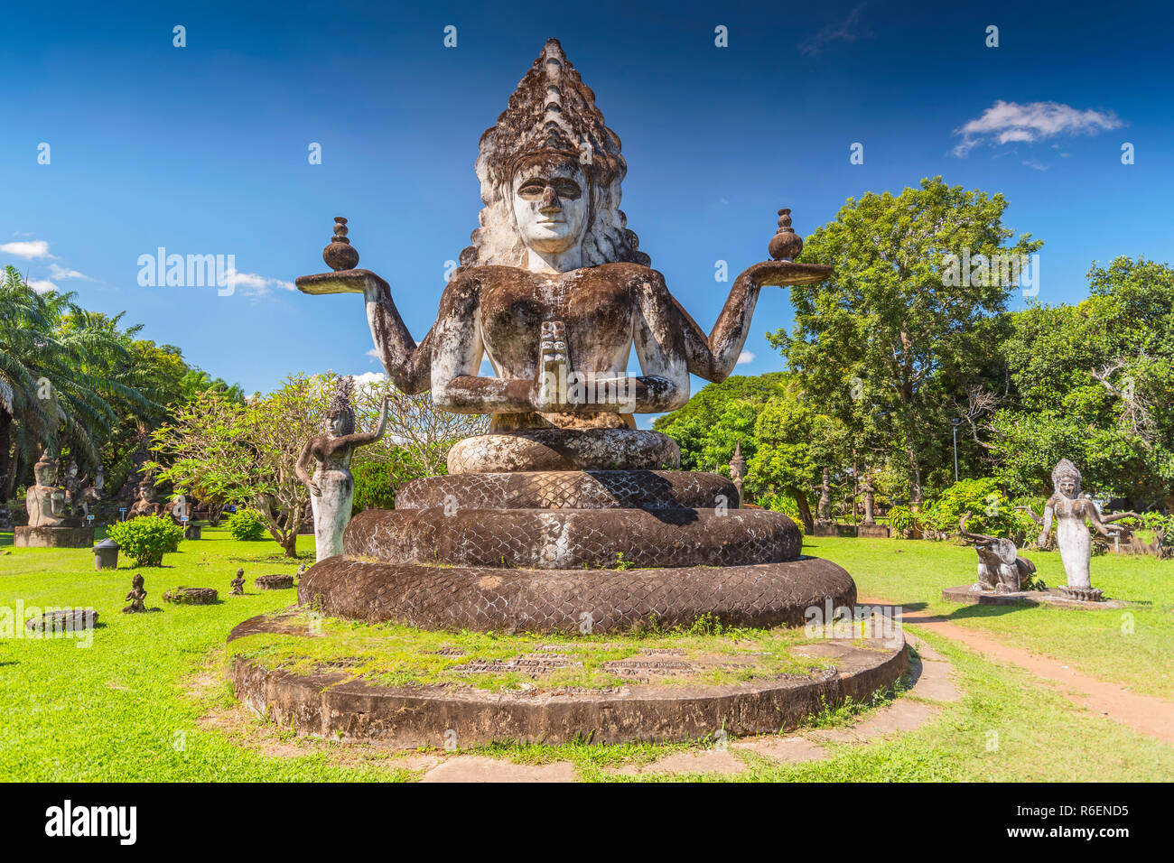 Buddha Statue In The Buddha Park, Xieng Khouan, Vientiane, Laos, Indochina, Asia Stock Photo